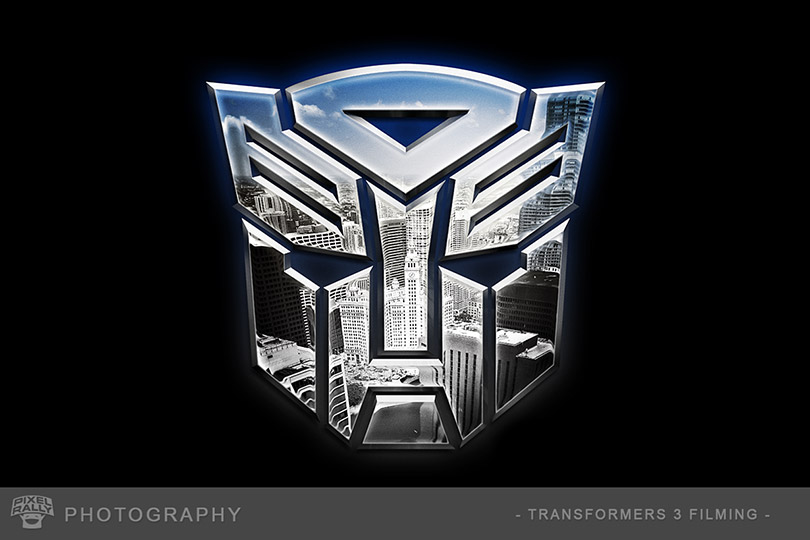 Chicago Autobot Logo TF3 Title Card