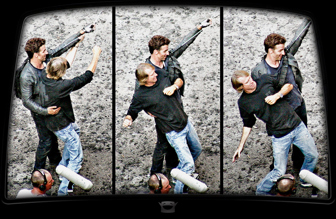 Michael Bay directly directs the stunt man