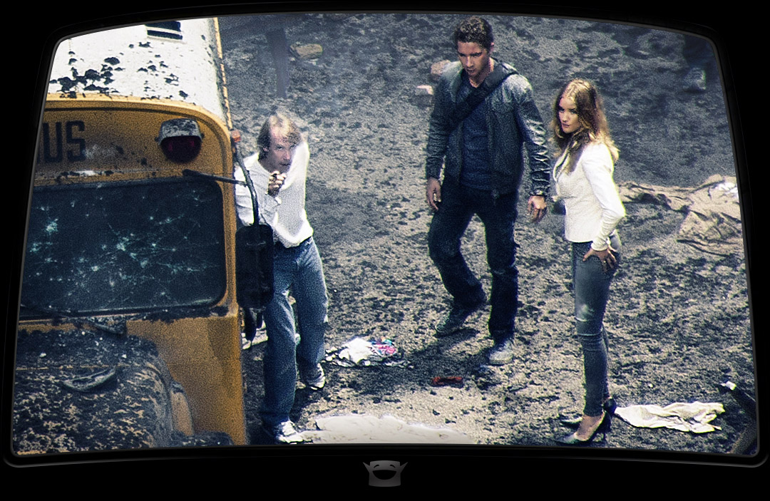 Michael Bay directs Shia and Rosie