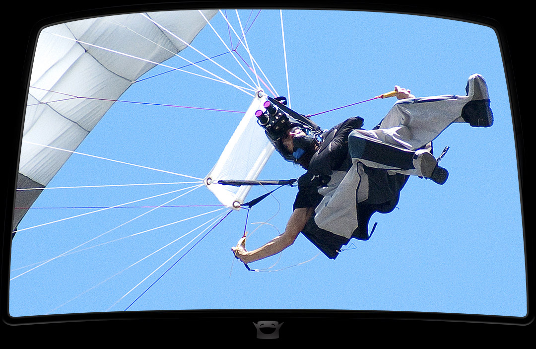 Wingsuit skydiver camera-man